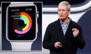Tim Cook met de Apple Watch