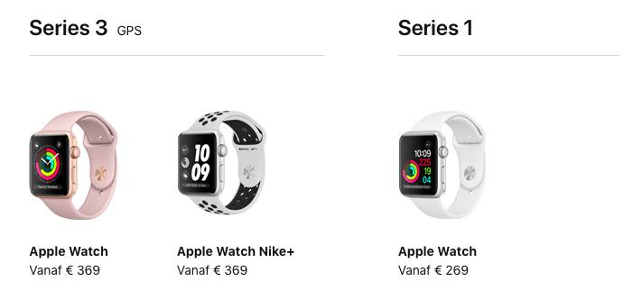 Apple Watch Series 3 vs Series 1