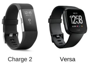 Fitbit Versa vs Fitbit Charge 2