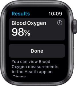 Apple Watch 6 saturatiemeter