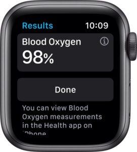 smartwatch met saturatiemeter